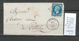 France - Lettre - PC 497 - BOYNES - Loiret - 1861 - 1849-1876: Classic Period