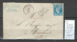 France - Lettre-  PC DU GC 3982 - TOULOUSE - Haute Garonne - 1862 - 1849-1876: Periodo Clásico