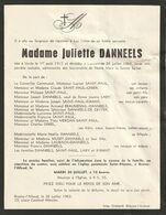 Juliette Danneels / Uccle 1912 - Louvain 1963 - Overlijden