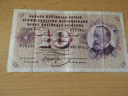 Banknote  Schweitzerische Nationalbank 10 Franken 1967 Gbr. - Switzerland