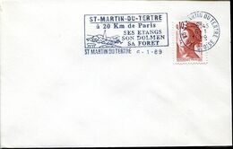 58174 France, Special Postmark 1989 St.martin Du Tertre, Prehistory  Dolmen - Prehistoria