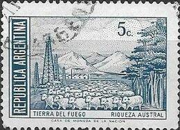 ARGENTINA 1970 Revalued Currency - 5c Tierra Del Fuego FU - Argentina