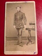 CDV ROMANIA FOCSANI - F X ZEITHEIM 1870 - OFITER ARMATA ROMANA - Photographs