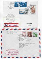 1958 - ENVELOPPES 1° LIAISON AERIENNE TRANSPOLAIRE PARIS => TOKYO (JAPON) Par AIR FRANCE - ALLER ET RETOUR ! - 1927-1959 Brieven & Documenten