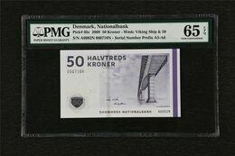 2009 Denmark Nationalbank 50 Kroner Pick#65c PMG 65 EPQ Gem UNC - Danimarca