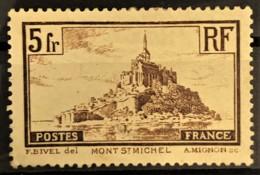 FRANCE 1929/31 - MLH - YT 260a - 5F - Mont St. Michel - Ongebruikt