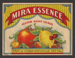 Egypt - RARE - Vintage Label - MIRA ESSENCE - Natural Lemon Paste - Covers & Documents