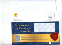 Pap  Patrimoine Chateau Catalogue Phil@poste 2020 Illustré Sage + Enveloppe Reponse T - PAP : Altri (1995-...)
