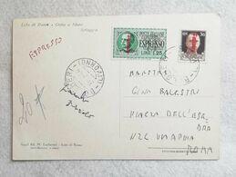 Cartolina Illustrata Espresso Da Bolgheri Per Roma 1944 - Correo Urgente