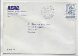 1953 - ENVELOPPE 1° LIAISON AERIENNE FINNAIR HELSINKI (FINLANDE) => PARIS - 1927-1959 Brieven & Documenten