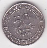 74 Haute Savoie Jeton Casino De Chamonix 50 Cents - Casino
