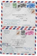 1953 - ENVELOPPES RECOMMANDEES 1° LIAISON AERIENNE AIR FRANCE JAPON => VIETNAM => FRANCE (SAIGON Et PARIS) AFFR. !! - 1927-1959 Brieven & Documenten