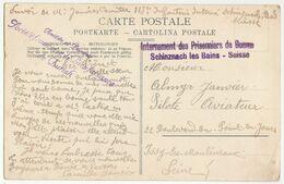 CPFM Internement Des Prisonniers De Guerre Schinznach Les Bains Suisse  + Griffe Zurich - Postmark Collection (Covers)