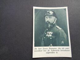 """Origineel Knipsel ( 6435 ) Uit Tijdschrift """"  De Stad """"  1936 :  Pompier Louis Bouwens  Lokeren - Alte Papiere"""
