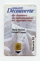 Concert Découverte . Alain Marion Et Gérard Caussé.  A 3B019897 . Télécarte 50 Unités . - Music