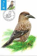 BUZIN Oiseau Cassenoix Moucheté Cachet BRUXELLES Premier Jour 21/01/2008 Timbre Yvert 3732 Carte Signée Buzin - Maximum Cards