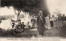 V9Py   Marseille 1914 Campement Des Goumiers Au Centre Le Fils D'Abdelkader - Unclassified
