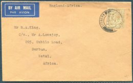 1931 GB Lisburn, Co. Antrim, Imperial Airways Xmas Feeder Flight Cover London -  Johannesburg South Africa Airmail - Covers & Documents