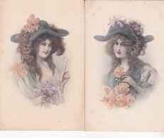 CPA Illustrateur ,M.M.VIENNE N°719 ,( Femme) , Très Bon état. ( Signée :WICHERA.) 2 Cartes Non écrites Pour Une. - Wichera