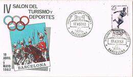 37546. Carta BARCELONA 1963. IV Salon De Turismo Y Deportes - 1931-Aujourd'hui: II. République - ....Juan Carlos I