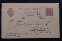 ESPAGNE - Entier Postal De Flix Pour L'Allemagne En 1898 - L 71463 - 1850-1931