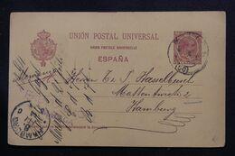 ESPAGNE - Entier Postal De Malaga Pour L'Allemagne En 1894 - L 71464 - 1850-1931
