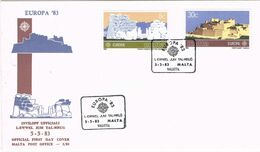 37549. Carta F.D.C. VALLETTA (Malta) 1983. Tema EUROPA. Templo Megalitico Y Puerto - Malta