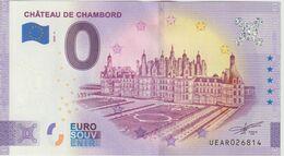 Billet Touristique 0 Euro Souvenir France 41 Chateau De Chambord 2020-3 N°UEAR026814 - Private Proofs / Unofficial