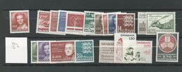 1982 MNH Denmark, Year Complete Postfris** - Volledig Jaar