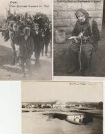 3 CARTE PHOTO:RAYAK TYPE BEDOUIN VENDANT DU BOIS,TOURISTE BEDOUIN DE PASSAGE ,VILLAGE HAOUCHE LIBAN - Lebanon