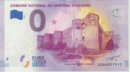 Billet Touristique 0 Euro Souvenir France 49 Chateau D'Angers 2020-1 N°UEGH007910 - Private Proofs / Unofficial