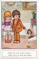 BERTIGLIA - Jeune Couple Brulant Une Photo Avec Une Bougie - CELLE QU'ON NE DOIT PAS AIMER - COLEI CHE NON SI AMARE - Bertiglia, A.