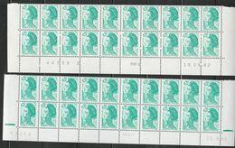 2181 20c EMERAUDE LIBERTE - 3 BAS DE FEUILLES - Voir Description - 1982-90 Liberty Of Gandon