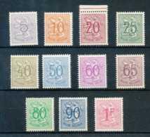 NB - [810369]TB//**/Mnh-c:16e-BELGIQUE 1951 - N° 849/59, Chiffres Sur Lions Héraldiques, SC, Luppi Et Papier Non Vérifié - 1951-1975 Leone Araldico