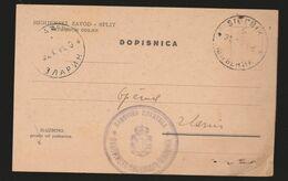 Kingdom YUGOSLAVIA 1941 ☀ Postcard Brief ZLARIN, Šibenik Banovina Hrvatska Croatia A Higijenski Zavod - Storia Postale