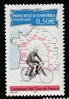 ANDORRE - N°582 ** (2003) Tour De France - Unused Stamps