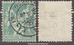 *RARE* 2c Sage Au Type 1 (N/B) Oblitéré TB (Y&T N° 62, Cote:  +340€) - 1876-1878 Sage (Type I)