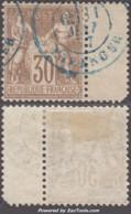 30c Sage Type I (N/B) Oblitéré 'PARIS ETRANGER' En Bleu *SUPERBE* (Y&T N° 69, Cote +++€) - 1876-1878 Sage (Type I)