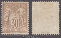30c Sage Type I (N/B) Neuf */** TB (Y&T N° 69, Cote  700€) - 1876-1878 Sage (Type I)