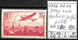 NB - [847446]TB//**/Mnh-c:50e-France 1936 - PA11, 2f50 Rose, Centrage Parfait, LUXE, Avions - 1927-1959 Mint/hinged
