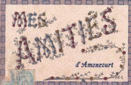 AMONCOURT - HAUTE-SAÔNE -  (70)  -  RARE CPA EN PIERRES COLORÉES. - Andere Gemeenten