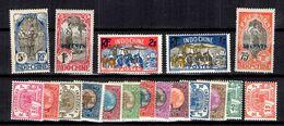 Indochine Petite Collection De Bonnes Valeurs 1907/1927. B/TB. A Saisir! - Neufs