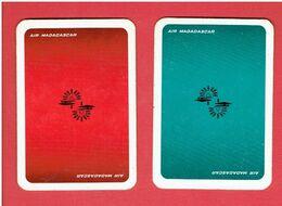 AIR MADAGASCAR BOITIER DE 2 JEUX DE 52 CARTES A JOUER EN SUPERBE ETAT - Playing Cards