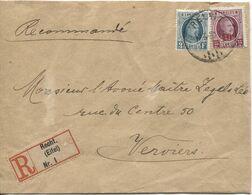 REF1775/ TP 208-246 Albert Houyoux S/L.Recommandée C.Recht 17/5/1930 étiquette Reco. Type Allemand > Verviers - Covers & Documents