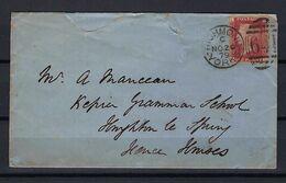 GRANDE BRETAGNE 1879: LSC De Richmond (Yorkshire) Pour Fence Houses Avec Le Y&T 26, Pl.215, Obl. CAD - 1840-1901 (Regina Victoria)