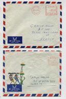 ZAIRE - 2 Lettres Affranchies Avec Machine à Affranchir (EMA) Dont 1 Enveloppe Illustrée - Other