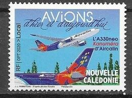 NEW CALEDONIA, 2020, MNH,AIRPLANES, AVIATION, AIRCALIN, 1v - Vliegtuigen