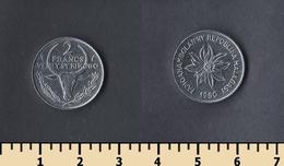 Madagascar 2 Francs 1980 - Madagascar