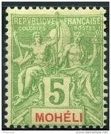 Mohéli (1906) N 4 * (charniere) - Neufs