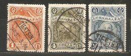 3 Timbres De 1928 ( Chine / Effigie Du Général Tchang Kaï Chek ) - China